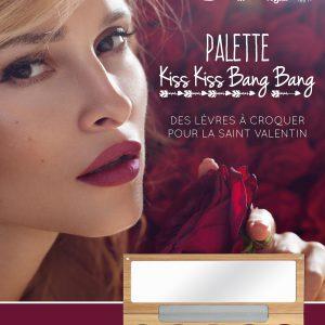 155242 POSTER A4 PALETTE KISS KISS ST VAL FR