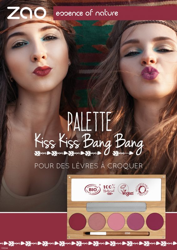155244 POSTER A4 PALETTE KISS KISS FR